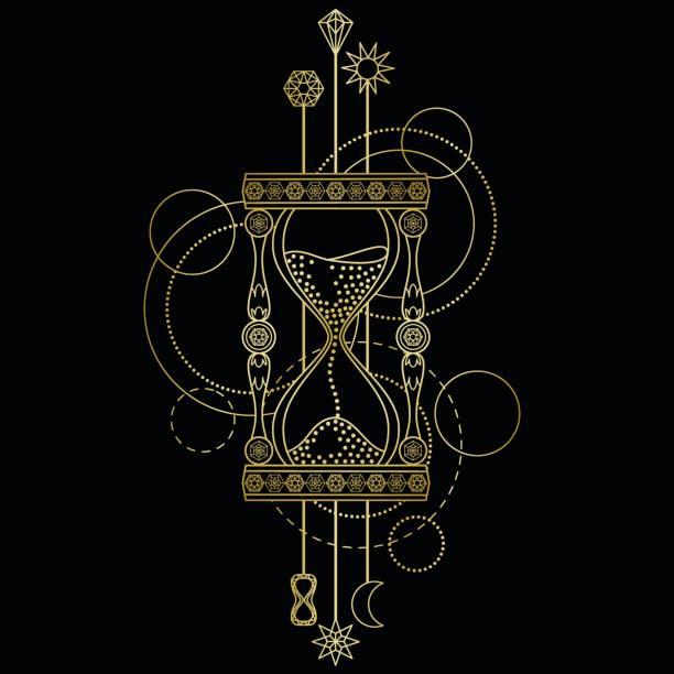 Geometric sandglass symbol - ilustração de arte vetorial