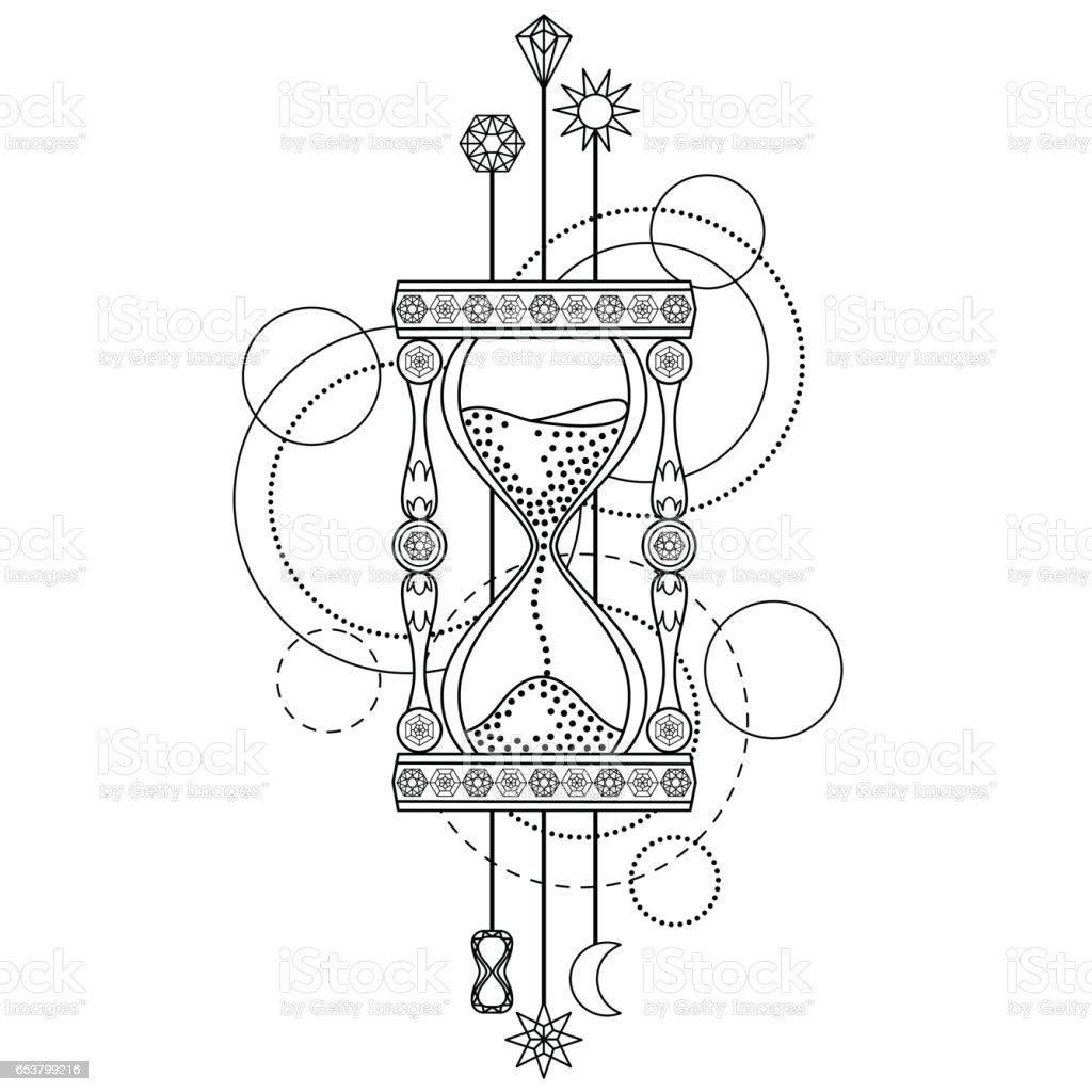 De Arena Y Símbolo Geométrico Reloj Vectores Ilustración Más b6yf7Ygv