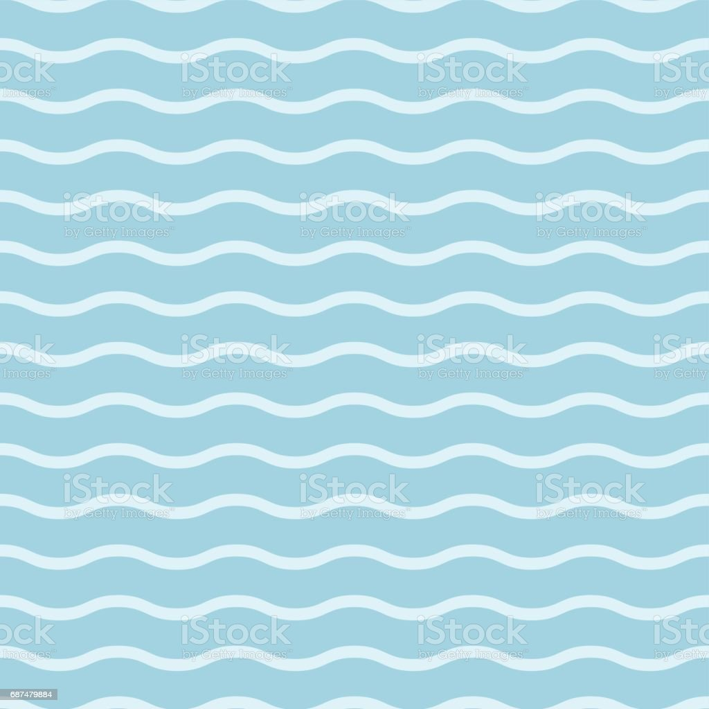 Geometric Seamless Background Blue And White Wallpaper With