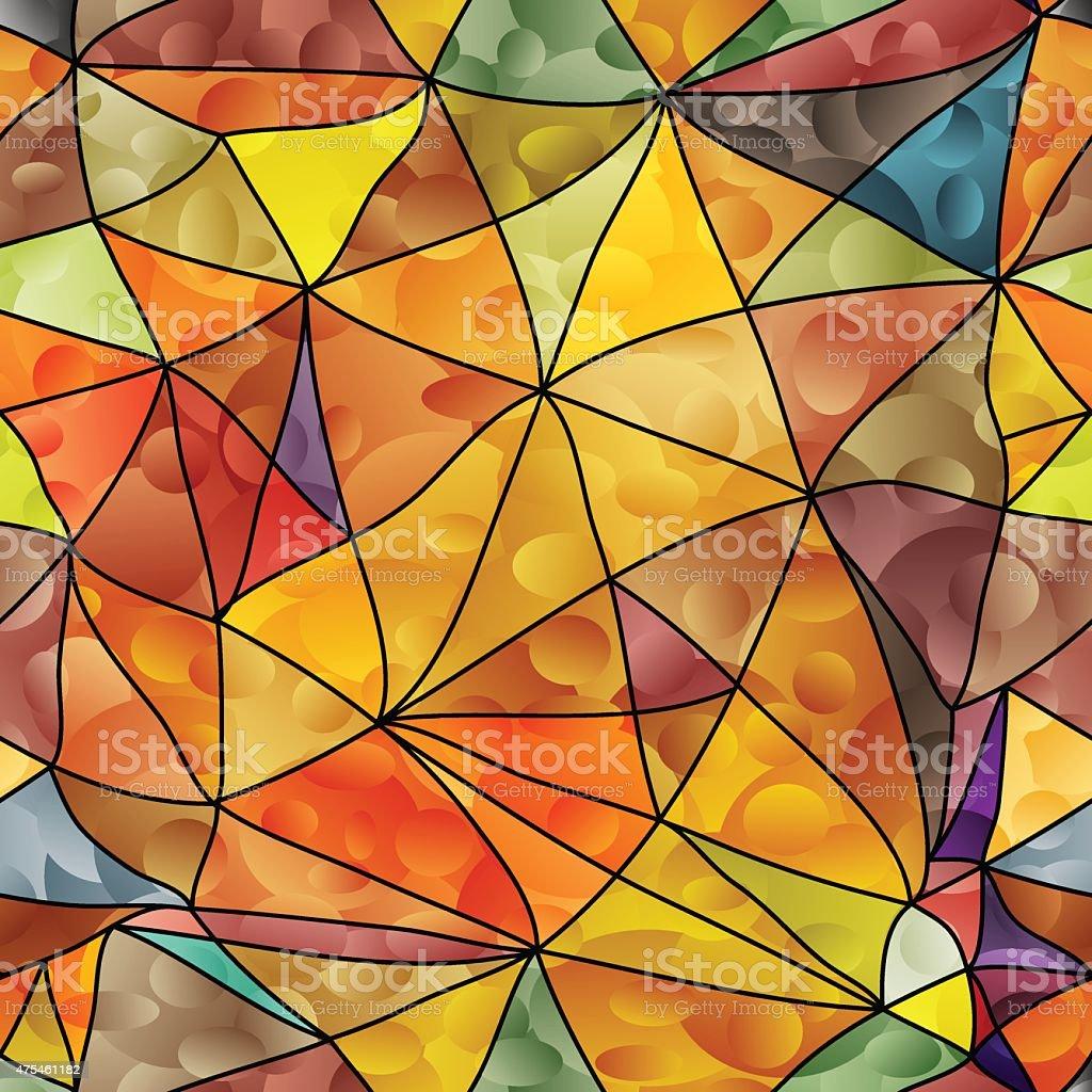 Geometric seamless background. vector art illustration