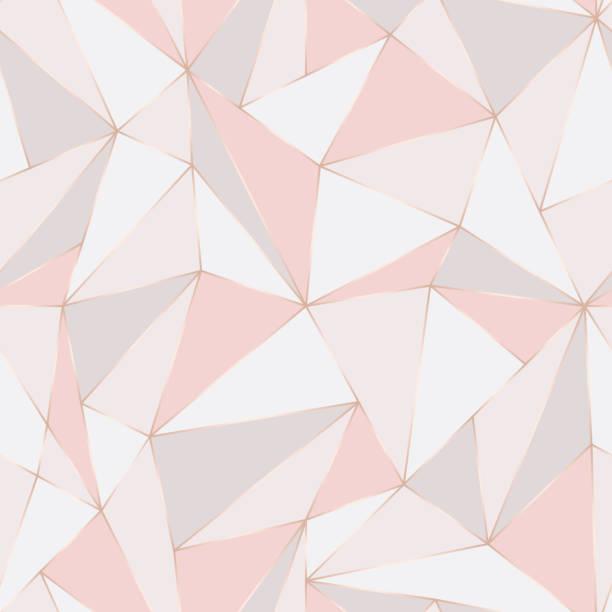 幾何無縫圖案。抽象多邊形背景。三角形向量柔和的背景。 - 淺粉色 幅插畫檔、美工圖案、卡通及圖標