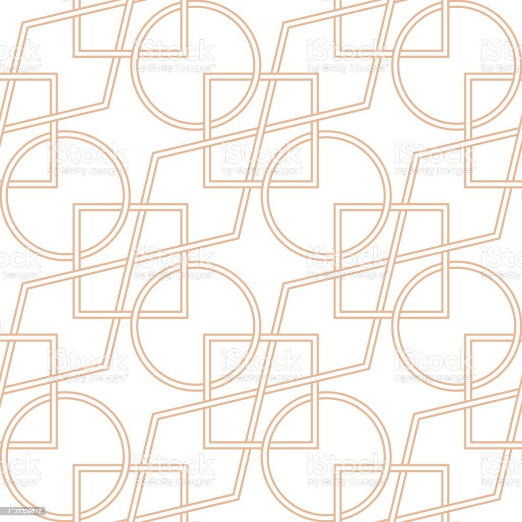 d762ba19b21018 Geometrisch naadloos patroon. Beige ornament op witte achtergrond royalty  free geometrisch naadloos patroon beige ornament