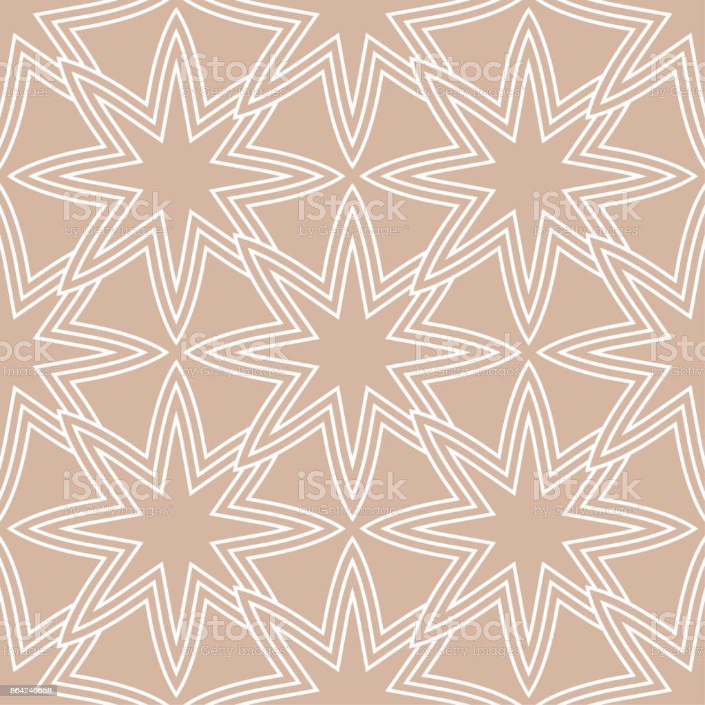 Geometric seamless pattern. Beige ornamental design royalty-free geometric seamless pattern beige ornamental design stock vector art & more images of abstract