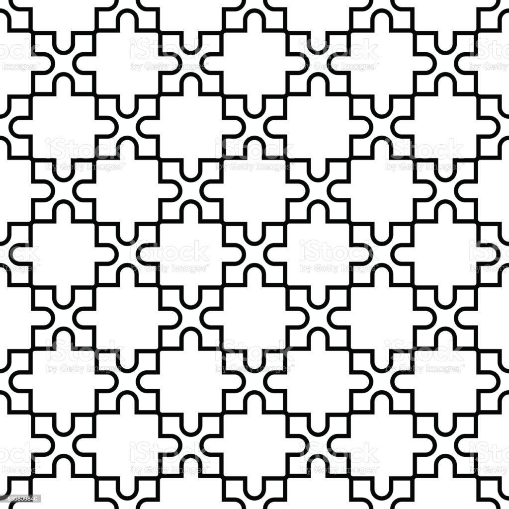 Geometric seamless pattern. Black and white design - arte vettoriale royalty-free di Astratto