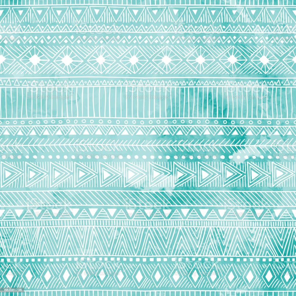 Geometric seamless pattern. Blue and white colors. vector art illustration