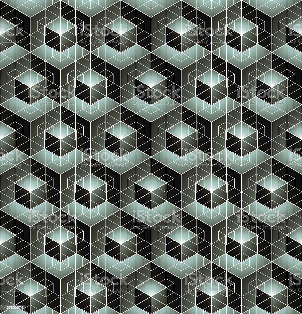 Geometric seamless pattern, endless black and white vector vector art illustration