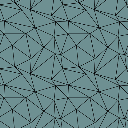 Geometric seamless pattern from triangles. Green grey vector illustration.