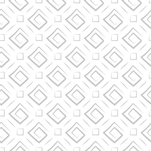 Bекторная иллюстрация Geometric seamless pattern. Gray sqaure print on white background