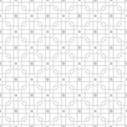 Geometric Seamless Pattern Gray Sqaure Print On White Background - Immagini vettoriali stock e altre immagini di Bianco