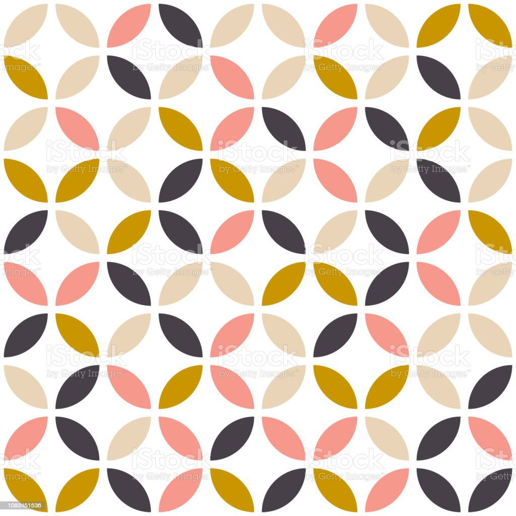 Geometric seamless pattern in scandinavian style. Mid century design. Vector wallpaper. royalty-free geometric seamless pattern in scandinavian style mid century design vector wallpaper stock illustration - download image now