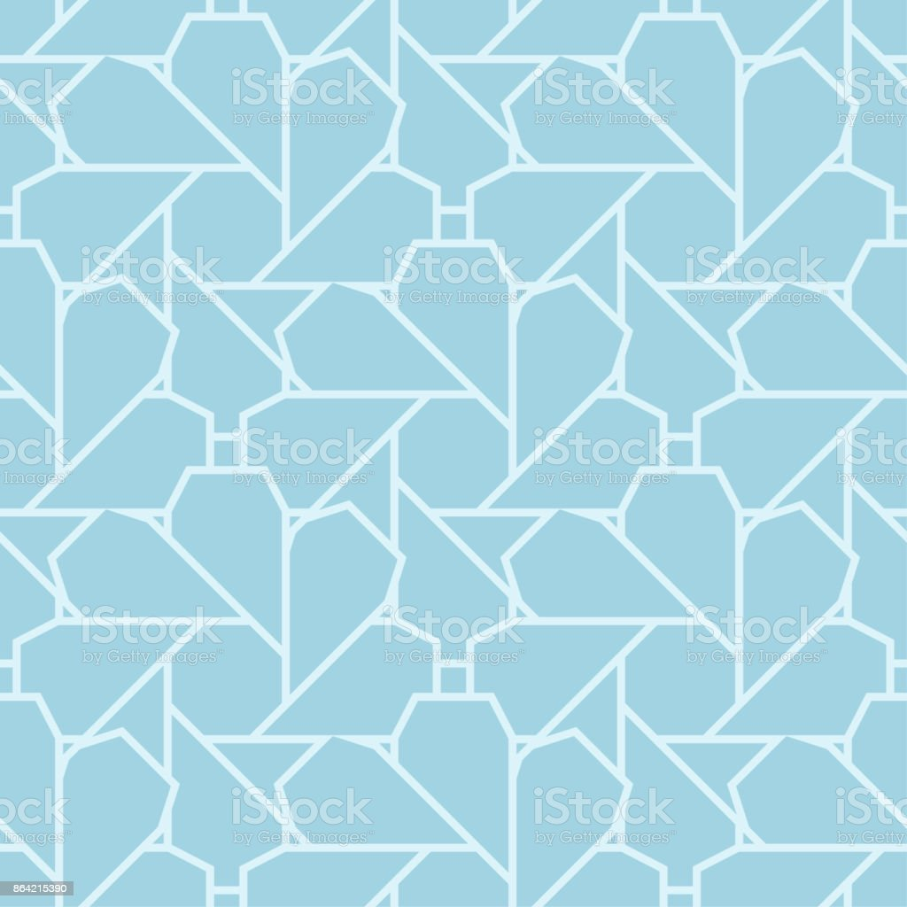 Geometric seamless pattern. Pale blue ornamental design royalty-free geometric seamless pattern pale blue ornamental design stock vector art & more images of abstract