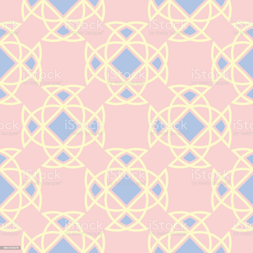 Geometric seamless pattern. Pale pink background with blue and beige elements royalty-free geometric seamless pattern pale pink background with blue and beige elements stock vector art & more images of abstract