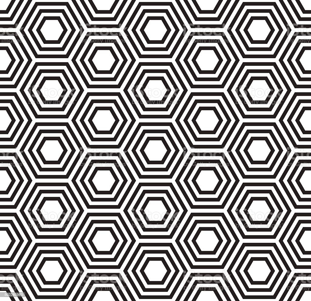 Geometric seamless pattern. Turtle shell pattern
