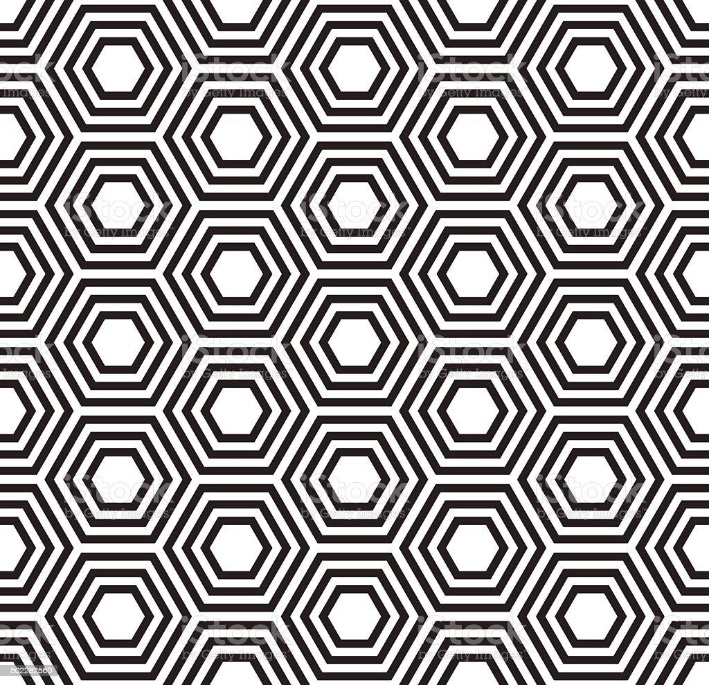 Geometric seamless pattern. Turtle shell pattern vector art illustration