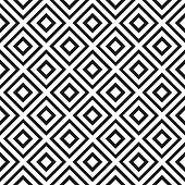 Seamless pattern with rhombus and diagonal lines. Abstract geometric background. Vector illustration.