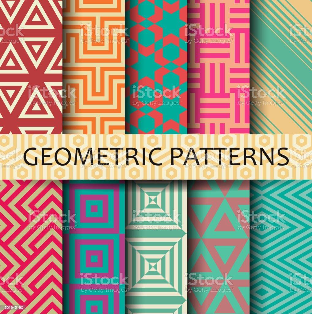 Geometric seamless pattern vector art illustration