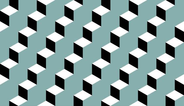geometrische nahtlose muster  - treppe stock-grafiken, -clipart, -cartoons und -symbole
