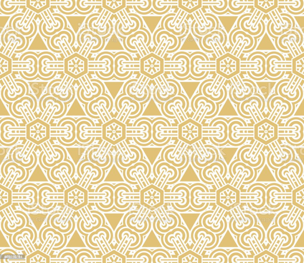 Geometric Seamless Pattern Vector Illustration For Modern Interior ...