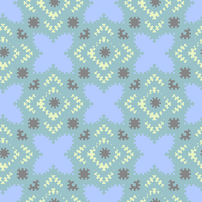 geometric  seamless pattern with colorful shapes. vector illustration