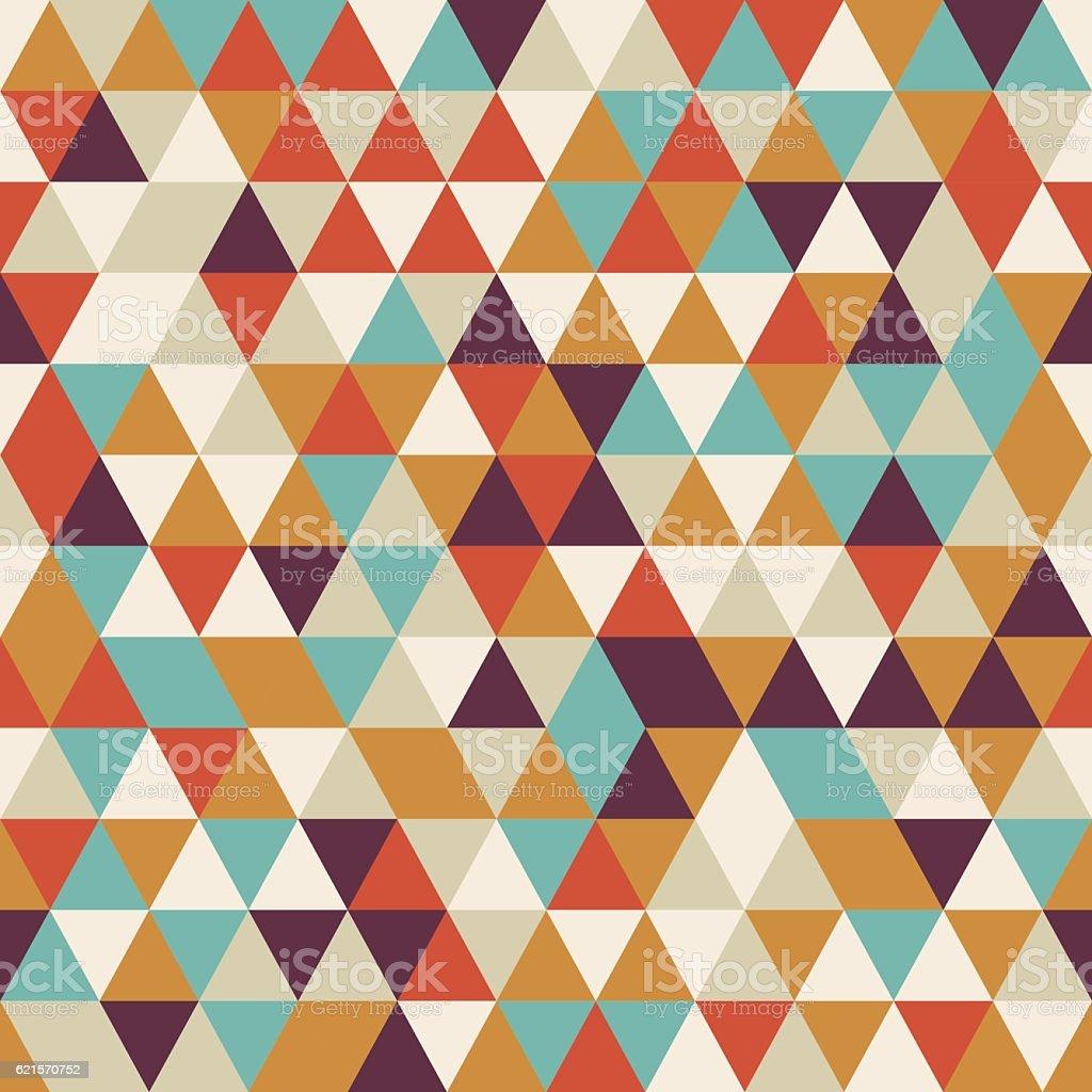 Geometric seamless pattern with colorful triangles in retro design geometric seamless pattern with colorful triangles in retro design – cliparts vectoriels et plus d'images de abstrait libre de droits