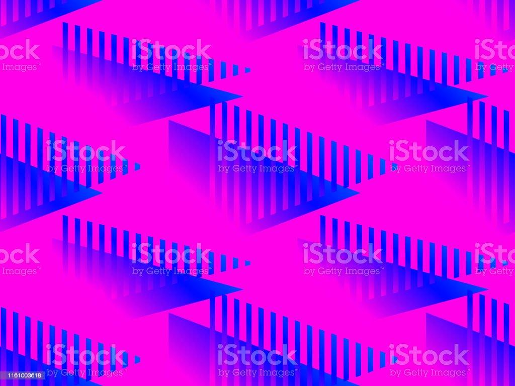 Geometric seamless pattern with liquid gradient. Blue gradient...