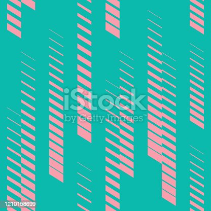 istock Geometric seamless pattern with vertical fading lines, stripes, 1210158699