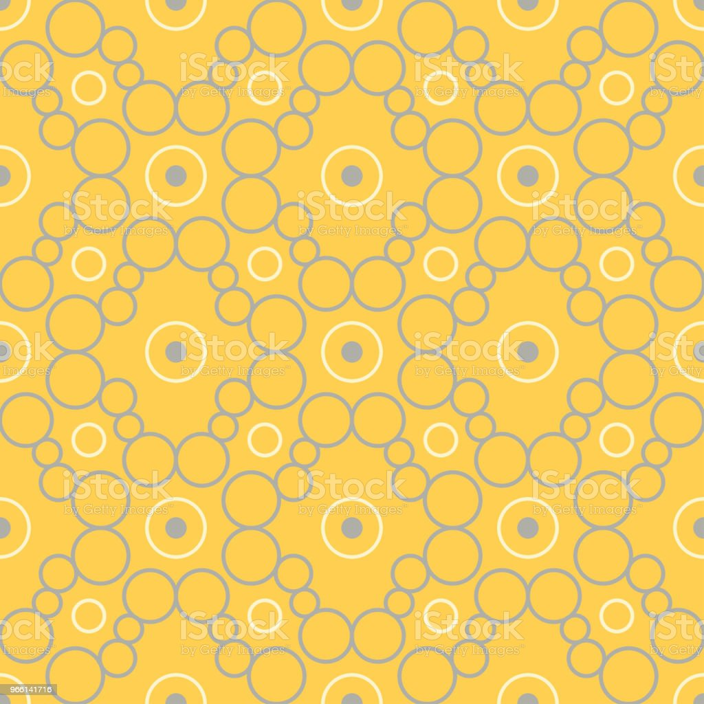 Geometric seamless pattern. Yellow background - Royalty-free Abstract stock vector