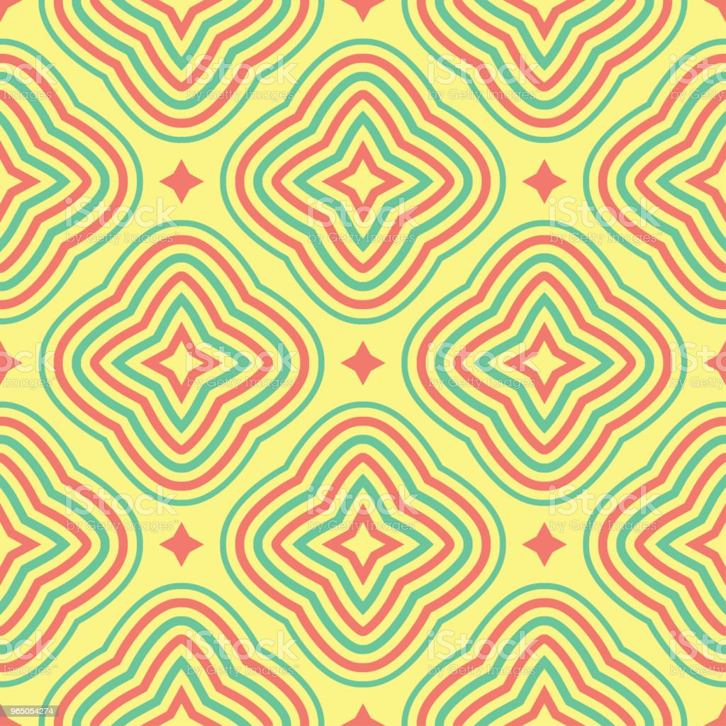 Geometric seamless pattern. Yellow background with pink and green design royalty-free geometric seamless pattern yellow background with pink and green design stock vector art & more images of abstract
