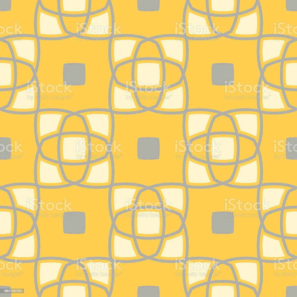 Geometric seamless pattern. Yellow gray and white colored background royalty-free geometric seamless pattern yellow gray and white colored background stock illustration - download image now