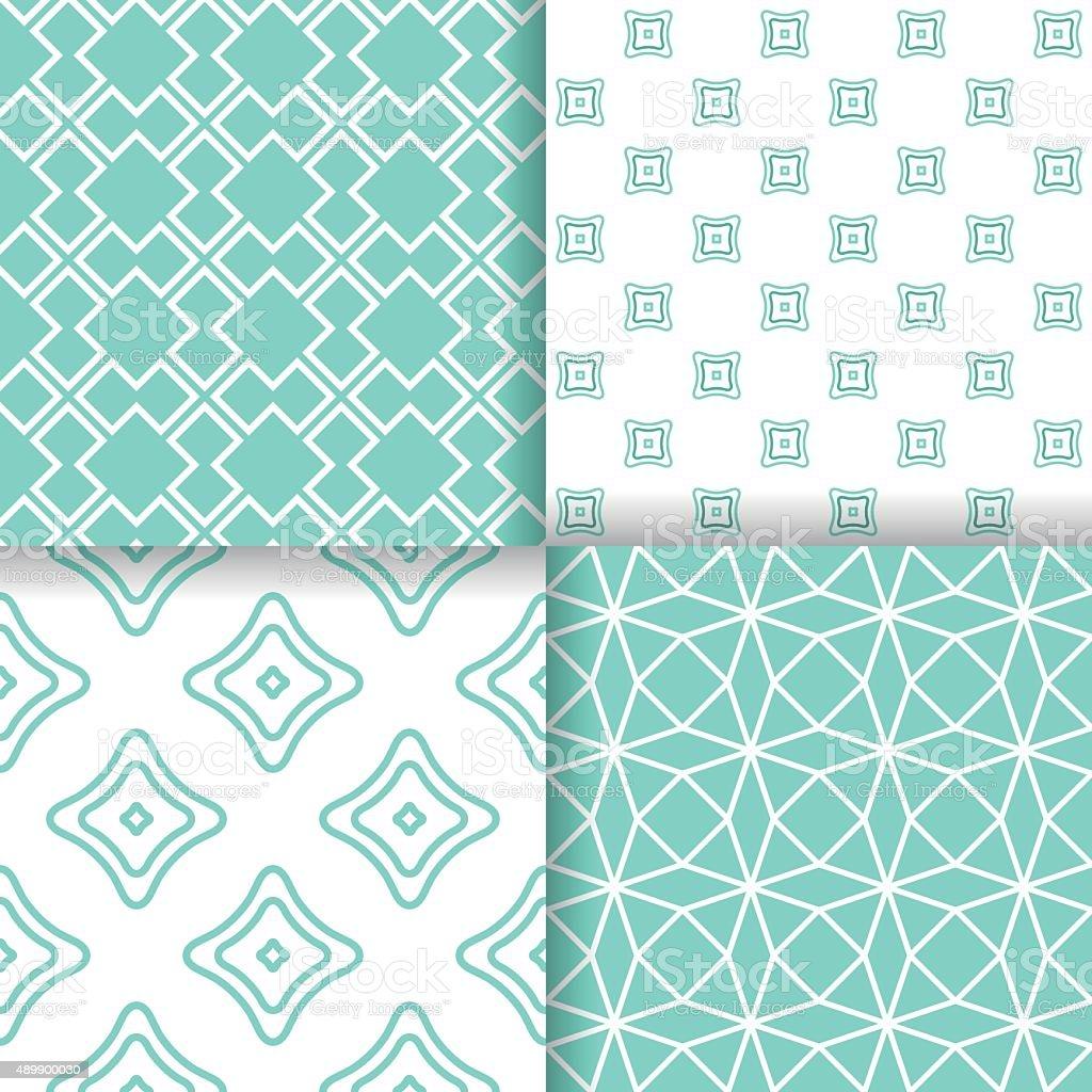 Geometric seamless patterns vector art illustration