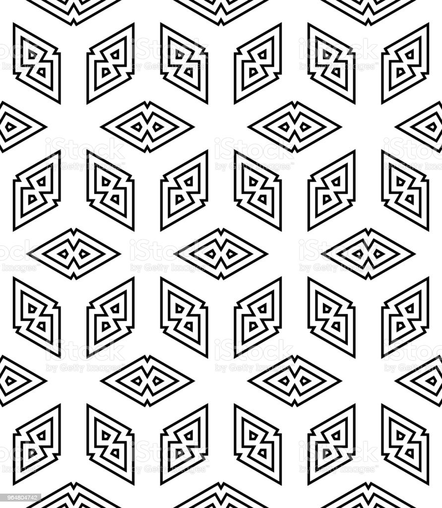 Geometric seamless vector pattern. royalty-free geometric seamless vector pattern stock vector art & more images of abstract