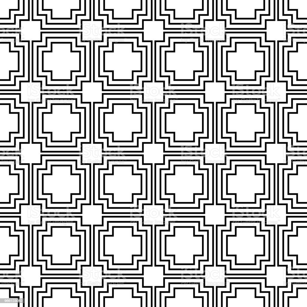 Geometric seamless vector pattern. - Royalty-free Abstract stock vector