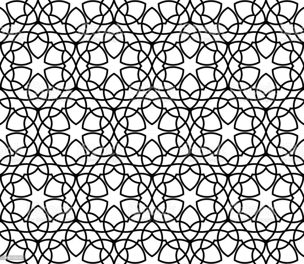 Geometrische naadloze vector patroon. - Royalty-free Abstract vectorkunst