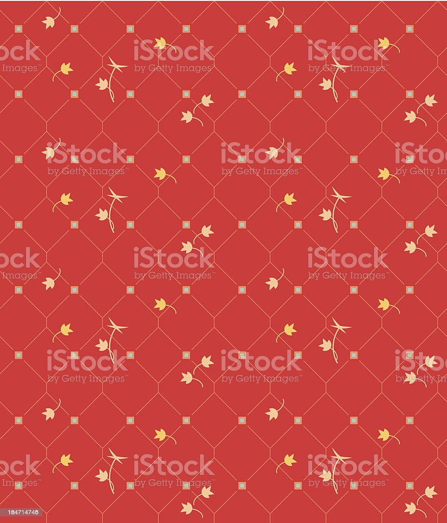 Geometric seamless vintage pattern background with floral elements royalty-free stock vector art