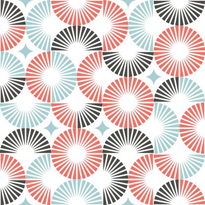 Geometric semi circle seamless pattern