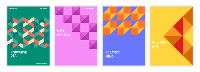 Geometric set of brochures