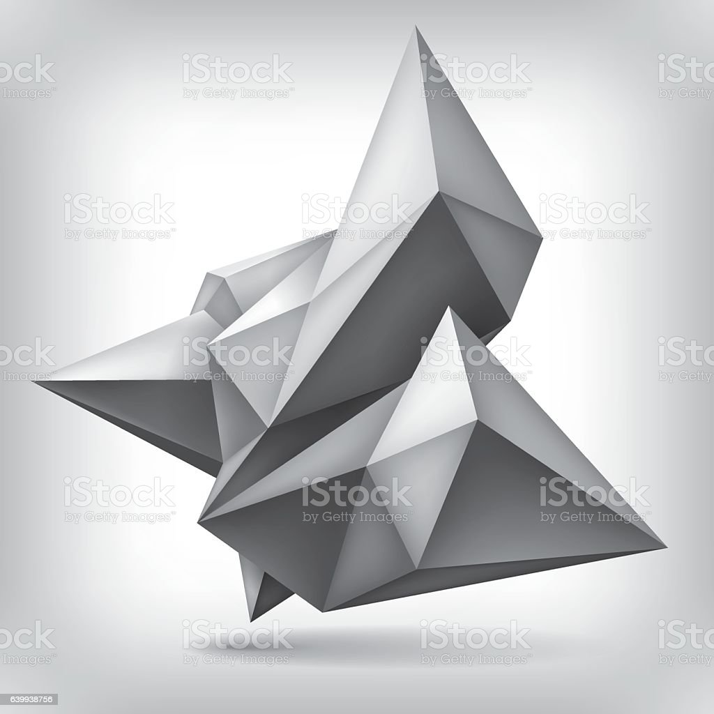 Form In Art And Design : Geometric shape d crystal abstraction low polygons object