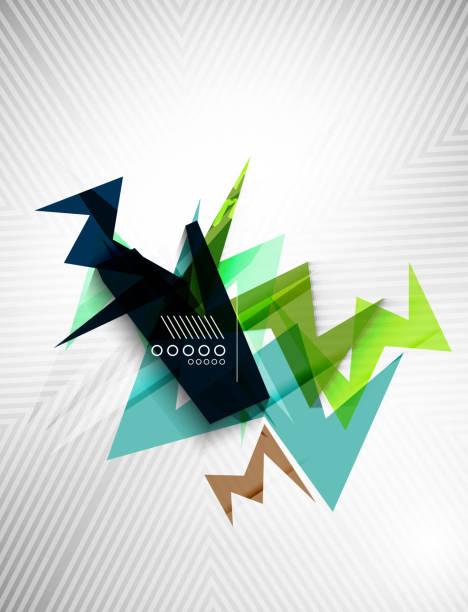 ilustraciones, imágenes clip art, dibujos animados e iconos de stock de forma geométrica de línea de fondo de - sparks