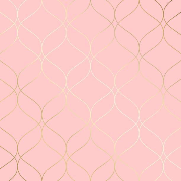 기하학적 모양 장식입니다. 모던 하 고 세련 된 감촉. - 분홍 stock illustrations