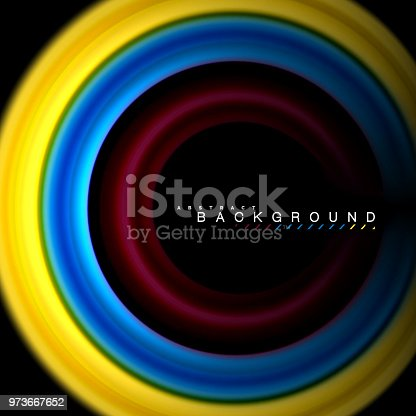 856252302istockphoto Geometric shapes created with fluid multicolored lines 973667652