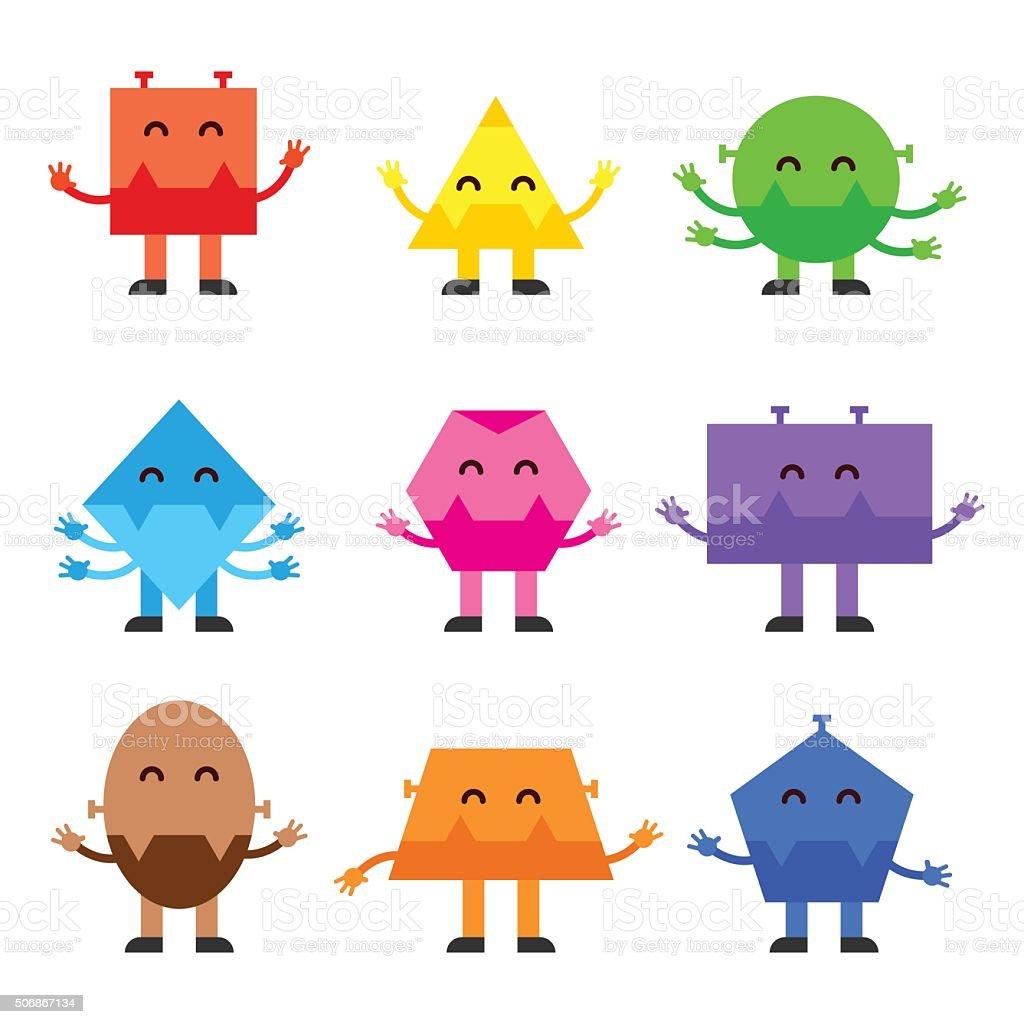 Character Design Basic Shapes : Istock