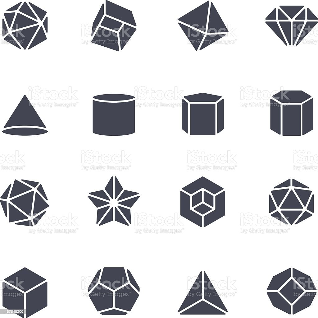 Geometric Shapes Icon vector art illustration