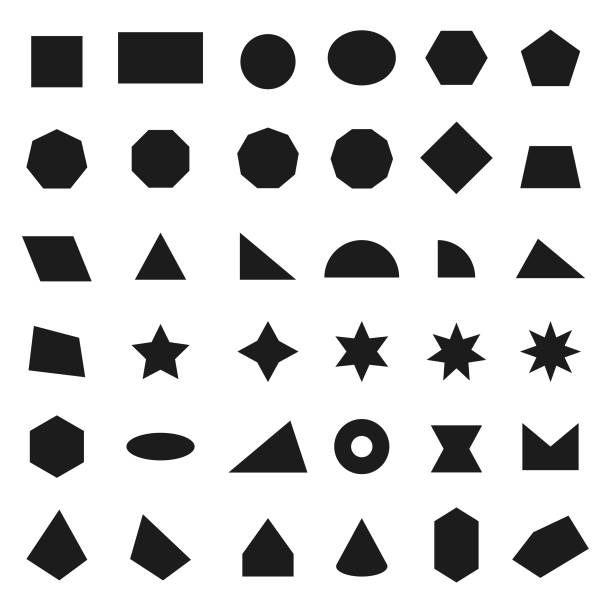 Geometric shapes icons vector art illustration