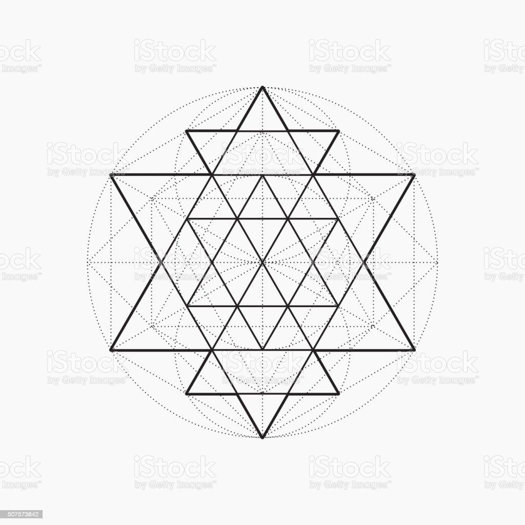 Geometric shapes, line design, triangle vector art illustration
