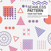 Geometric shapes pattern background, Elements composition, Modern vector