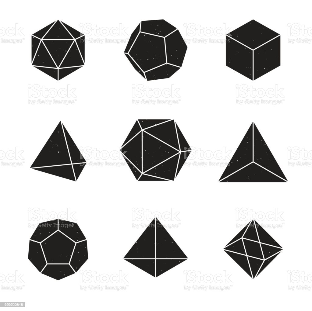 Royalty Free Dodecahedron Clip Art, Vector Images ... Platonic Solids Art