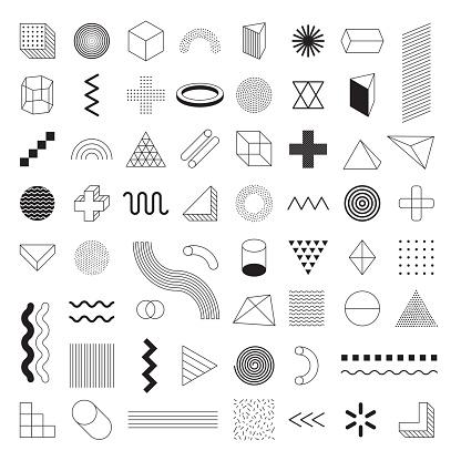 Geometric Shapes Set Vector -