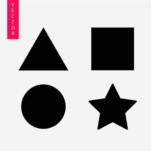 幾何形狀向量圖示 - 三角形 幅插畫檔、美工圖案、卡通及圖標