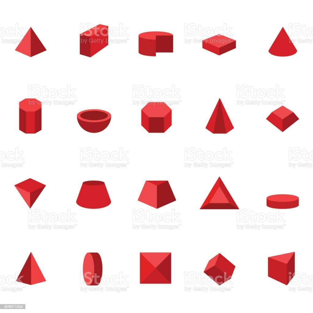 Formas geométricas - ilustração de arte em vetor