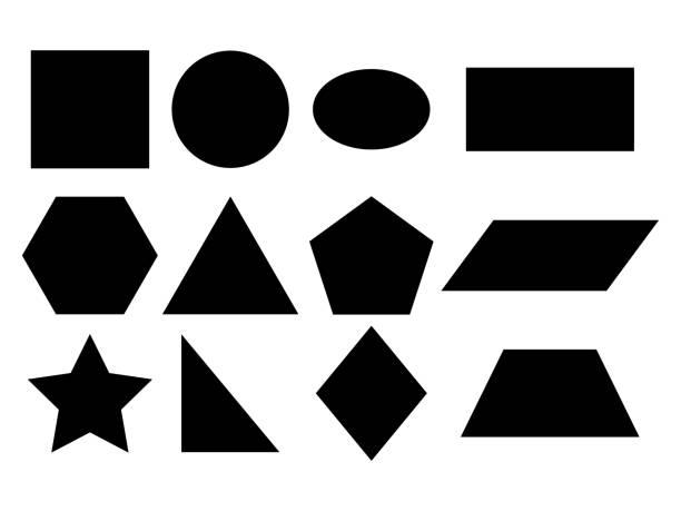illustrazioni stock, clip art, cartoni animati e icone di tendenza di geometric shapes vector - rombo